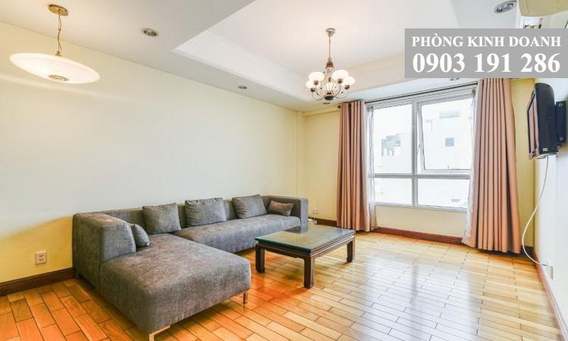 Cho thuê căn hộ The Manor tầng 4 tháp D nội thất cao cấp 1 phòng ngủ view nội khu