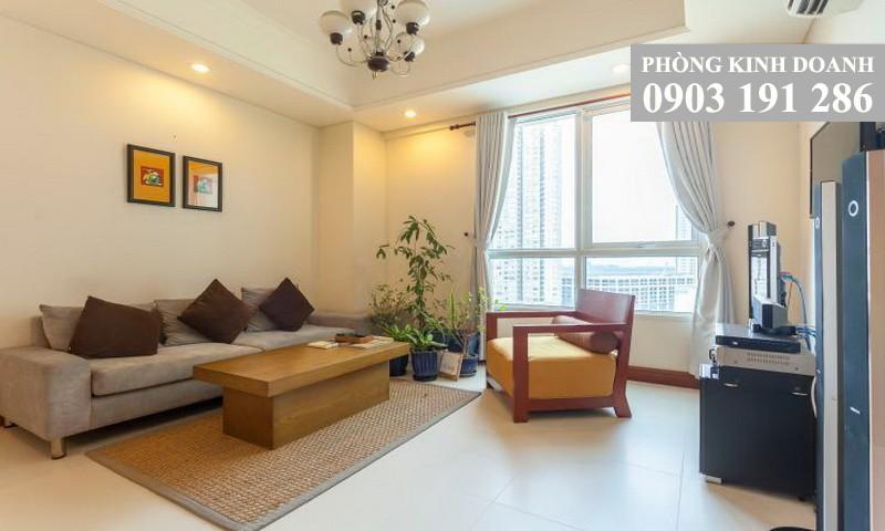 Căn hộ The Manor cho thuê lầu 9 block C đủ nội thất 2 phòng ngủ view Landmark 81