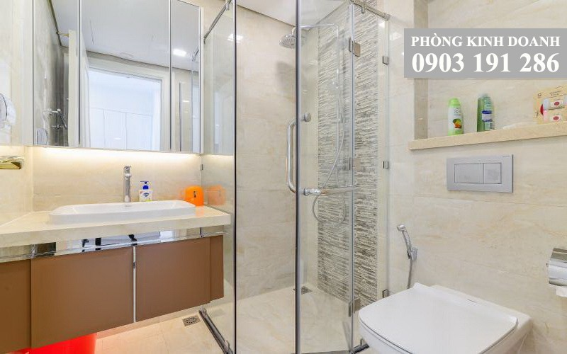 Cho thuê Vinhomes Golden River lầu 15 Aqua 3 nhà trống 1 phòng ngủ view sông