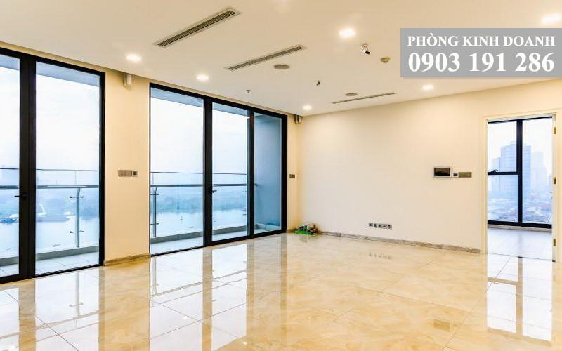 Cho thuê Vinhomes Golden River tầng 10 Aqua 4 nhà trống 3 phòng ngủ view quận 1
