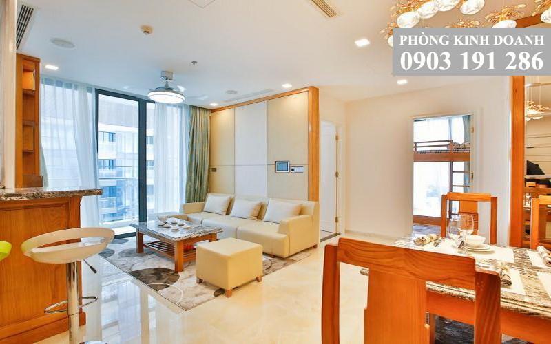 Vinhomes Golden River cho thuê lầu 25 tháp Aqua 4 đầy đủ nội thất 3 phòng ngủ