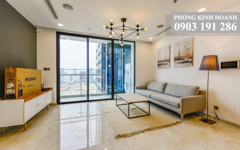 Vinhomes Golden River cho thuê lầu 16 tháp Aqua 2 nhà đẹp 2 phòng ngủ view quận 1