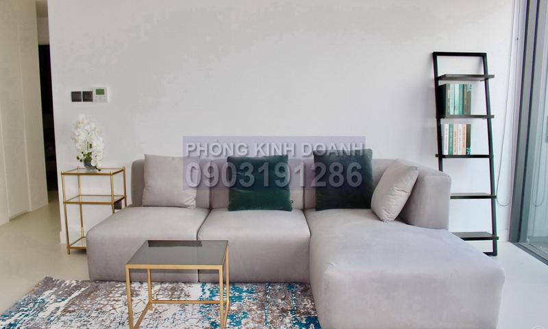 Căn City Garden cho thuê lầu 28 block C có nội thất view Landmark 81 2 phòng ngủ
