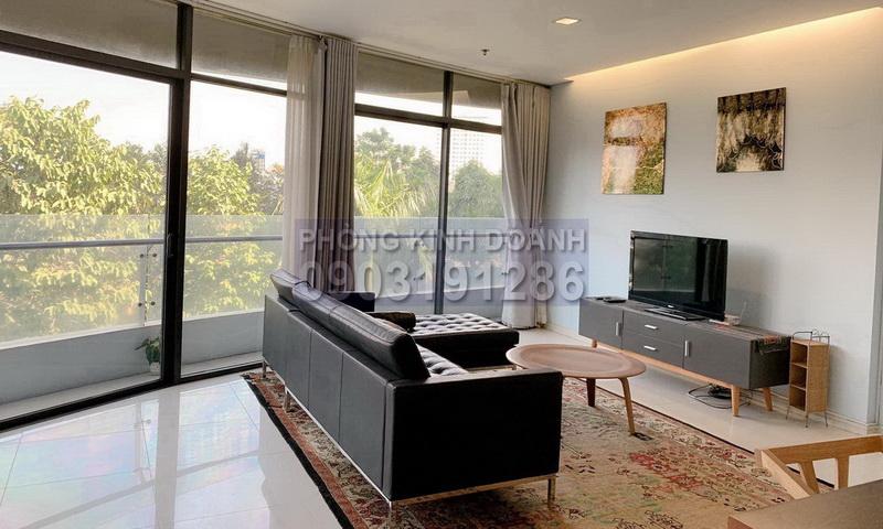 Căn hộ cho thuê City Garden lầu 3 block A đủ nội thất view thoáng 2 phòng ngủ