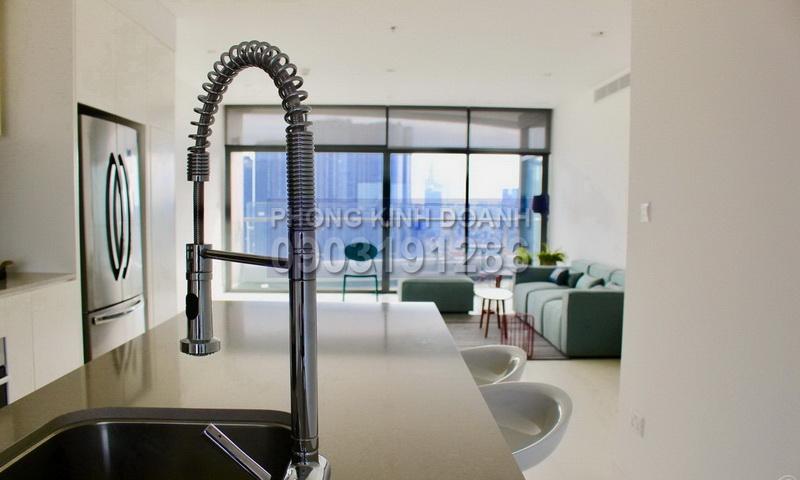 Cho thuê City Garden lầu 24 tháp P1 nhà đẹp view quận 1 căn hộ 3 phòng ngủ