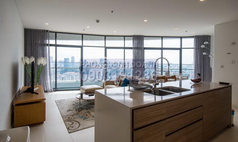 Căn hộ City Garden cho thuê tầng 26 toà P1 nhà đẹp view quận 1 2 phòng ngủ