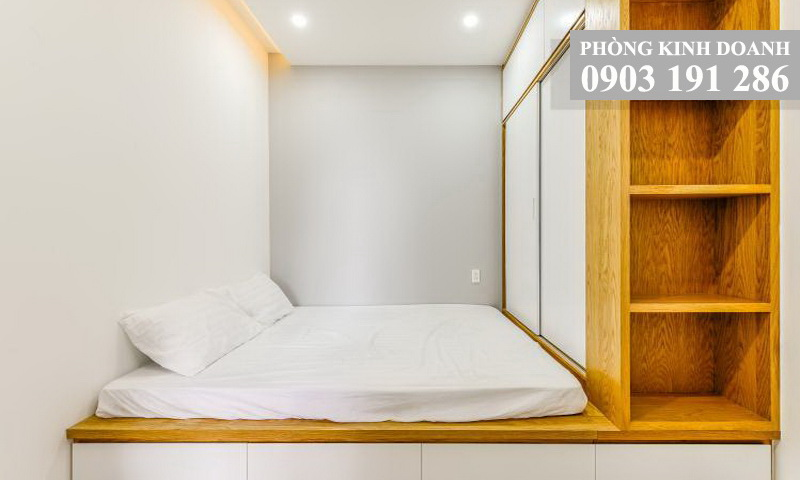 Căn hộ Wilton cho thuê lầu 17 block A nội thất đẹp 3 phòng ngủ view thoáng