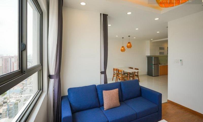 Wilton Tower cho thuê view sông lầu 14 tháp A nội thất full căn hộ 2 phòng ngủ